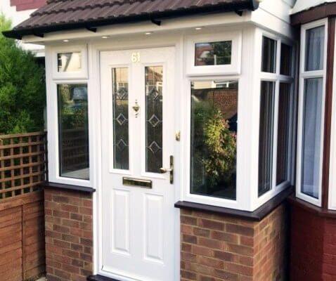 White porch doors