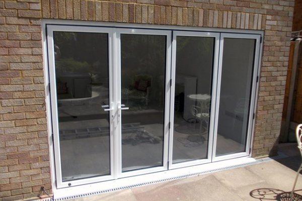Exterior view of bi-fold doors