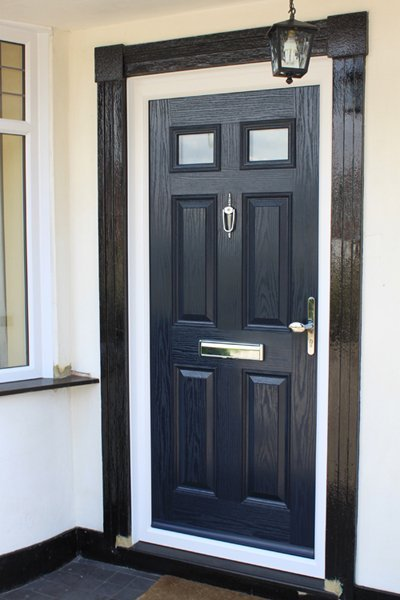 Composite blue door