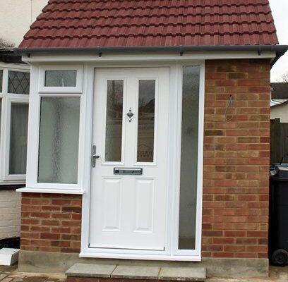 White porch door
