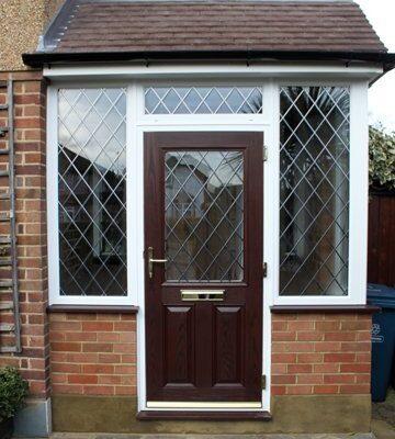 Brown porch door